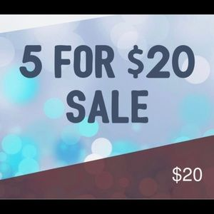🔥🔥Huge Sale!! Items marked 5 for $20🔥🔥